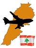 Vector clipart: fly me to Lebanon