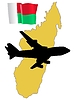 Vector clipart: fly me to Madagascar