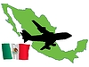 Vector clipart: fly me to Mexico