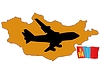 Vector clipart: fly me to Mongolia