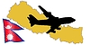 Vector clipart: fly me to Nepal