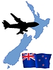 Vector clipart: fly me to New Zealand