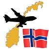Vector clipart: fly me to Norway