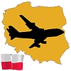 Vector clipart: fly me to Poland