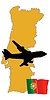 Vector clipart: fly me to Portugal