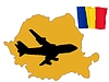 Vector clipart: fly me to Romania