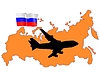 Vector clipart: flight to Russia
