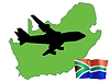 Vector clipart: fly me to South Africa