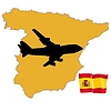 Vector clipart: fly me to Spain