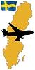 Векторный клипарт: Мне лететь в Швецию