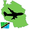 Vector clipart: fly me to Tainzania