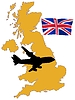 Vector clipart: fly me to United Kingdom