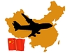 Vector clipart: fly me to China