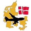 Vector clipart: fly me to Denmark
