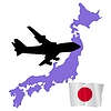 Vector clipart: fly me to Japan