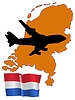 Vector clipart: fly me to Netherlands