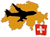 Vector clipart: fly me to Switzerland