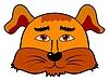 Vector clipart: Cartoon head of dog