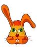 Vector clipart: Cartoon head of hare