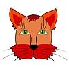 Vector clipart: Cartoon head of cat