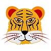 Vector clipart: Cartoon head of tiger