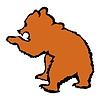Vector clipart: bear cub