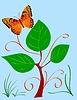 Vektor Cliparts: abstrakte Komposition mit Schmetterling