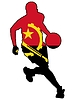 Vektor Cliparts: Basketball Farben von Angola