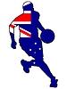 Vektor Cliparts: Basketball Farben von Australien