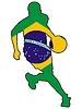 Vektor Cliparts: Basketball Farben Brasiliens