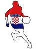 Vektor Cliparts: Basketball Farben von Kroatien