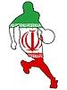 Vektor Cliparts: Basketball Farben des Iran