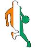 Basketball Farben von Cote d'Ivoire