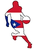 Vektor Cliparts: Basketball Farben von Puerto Rico