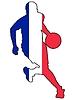 Vektor Cliparts: Basketball Farben Frankreichs