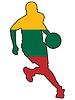 Vektor Cliparts: Basketball Farben Litauen