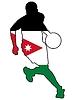 Vektor Cliparts: Basketball Farben von Jordanien