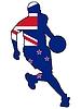 Basketball Farben von Neuseeland