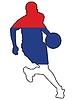 Vektor Cliparts: Basketball Farben von Serbien