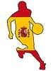 Vektor Cliparts: Basketball Farben Spaniens