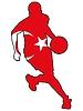 Vektor Cliparts: Basketball Farben Tukrey