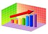 Векторный клипарт: график роста