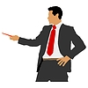 Vector clipart: business man with pointer