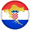 button in colours of Croatia