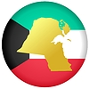 Vector clipart: button in colours of Syria