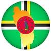 Векторный клипарт: Флаг кнопки цвета Доминика