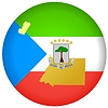 Vector clipart: flag button in colours of Equatorial Guinea