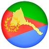 Векторный клипарт: Флаг кнопки цвета Эритреи