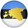 Векторный клипарт: Флаг кнопки в цветах Эстонии