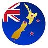 Векторный клипарт: Флаг кнопки цвета Новой Зеландии